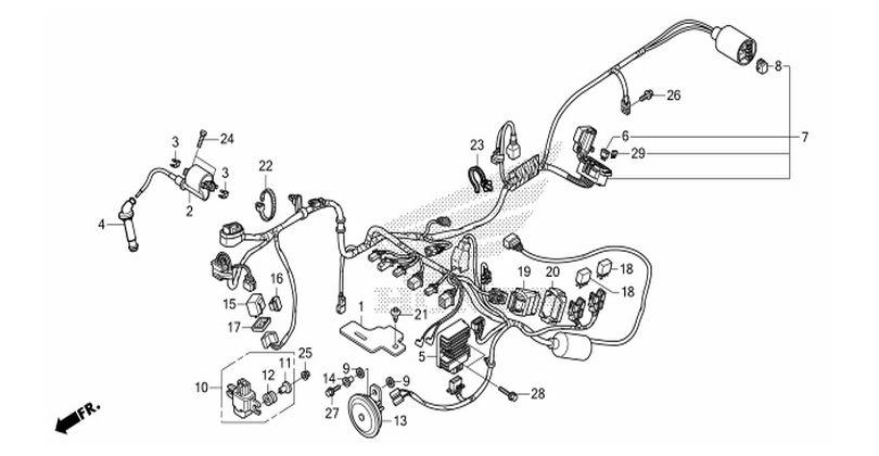 moto th - honda cbr150r  2014  parts